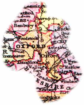 Overview Map Of Oxfordshire England