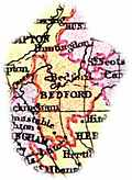 [picture: Overview map of Bedfordshire, England]