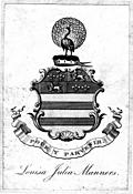 Bookplate from Lelands Itinerary Vol I