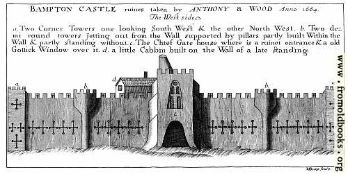 [Picture: Bampton Castle, West Side.]