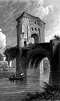 [picture: Ragland Castle - gateway and bridge - Monmouthshire (also called Raglan Castle)]