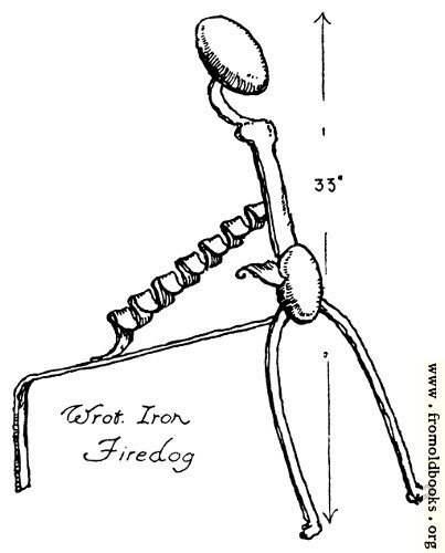 [Picture: Wrought Iron Firedog]
