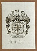 Bookplate, R. B. Colvin