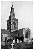 [picture: 1. Castor, Northamptonshire, from the South-West.  A Norman Church with alterations and additions of each succeeding style.]