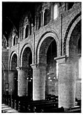 46. The South Nave Arcade, Melbourne, Derbyshire, with stilted Norman arcade.