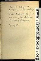 Inscription in the book