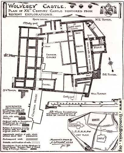 [Picture: Plan of Wolvesey Castle]