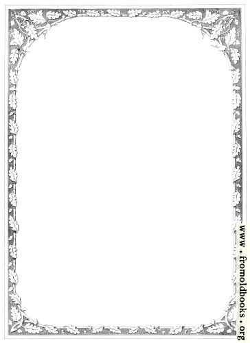 Full Page Oak Leaf Border
