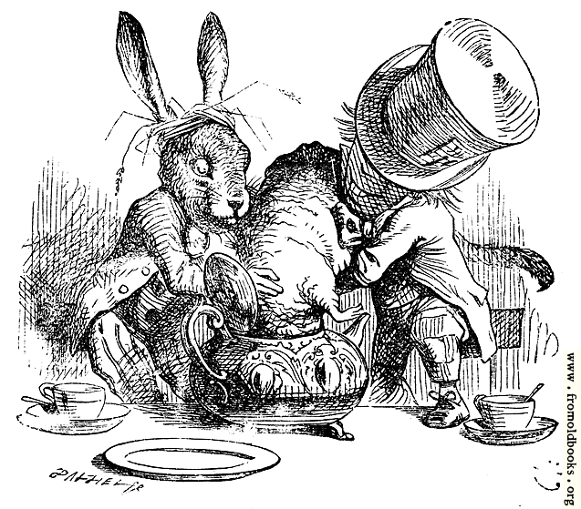 March Hare Alice In Wonderland: Mad Hatter And March Hare Dunking The Dormouse