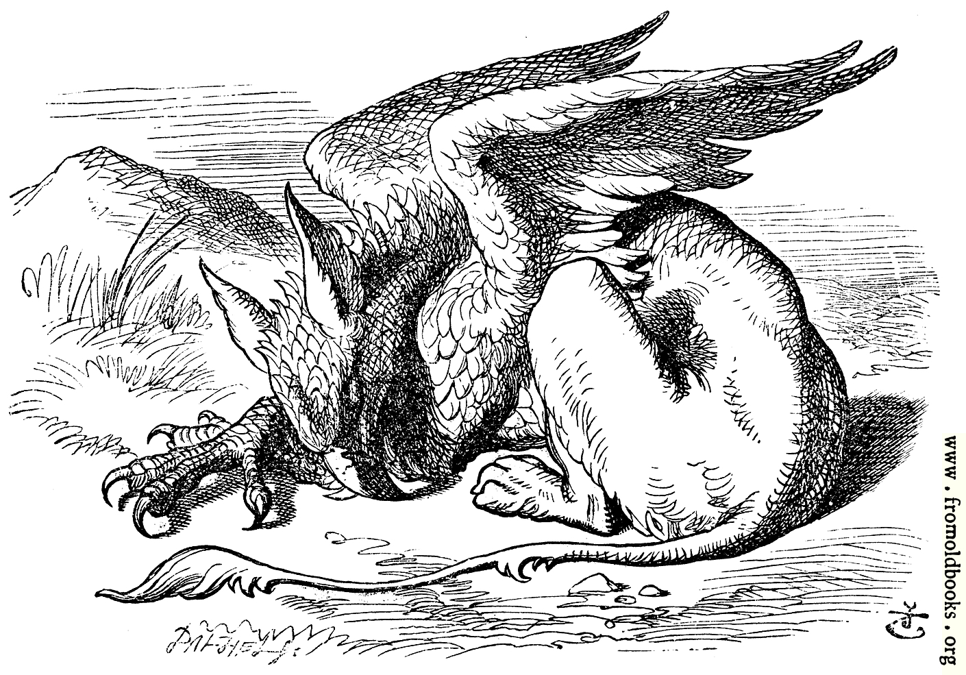 The gryphon asleep for The griffin