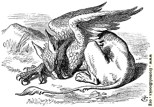 [Picture: The Gryphon Asleep]