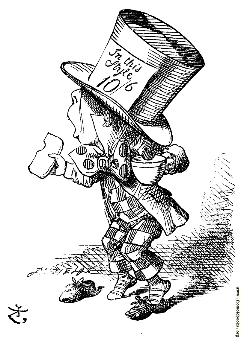 The Mad Hatter arrives hastily in court to testify