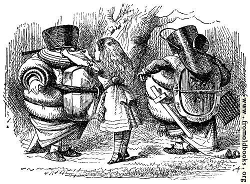 [Picture: Tweedledee and Tweedledum Prepare for Battle]