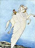 Frontispiece: Yes, there he sat, on the back of the winged horse!