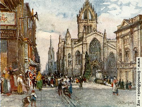 [Picture: The Church of St. Giles from the Lawnmarket]