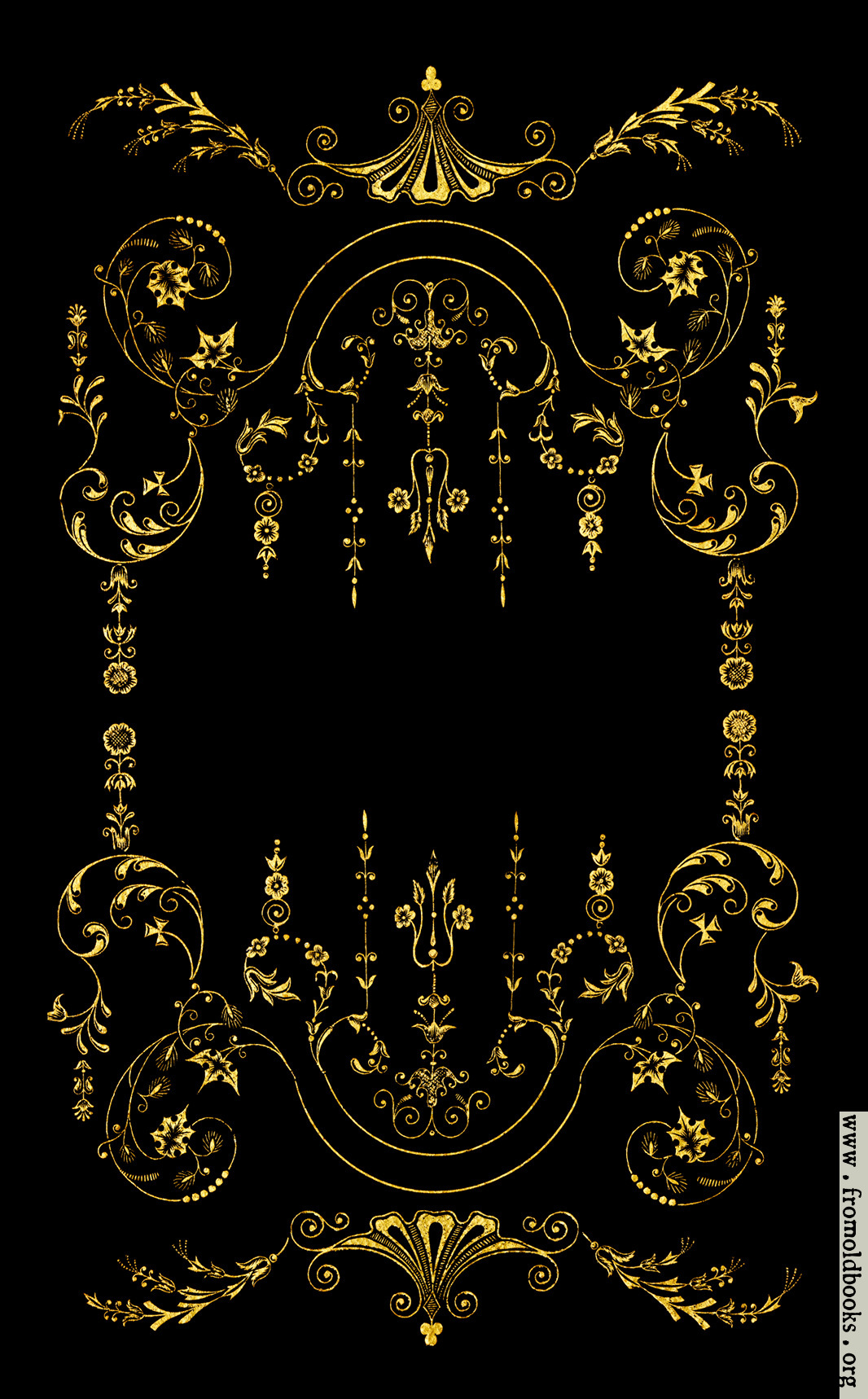 Victorian Border Gold On Black