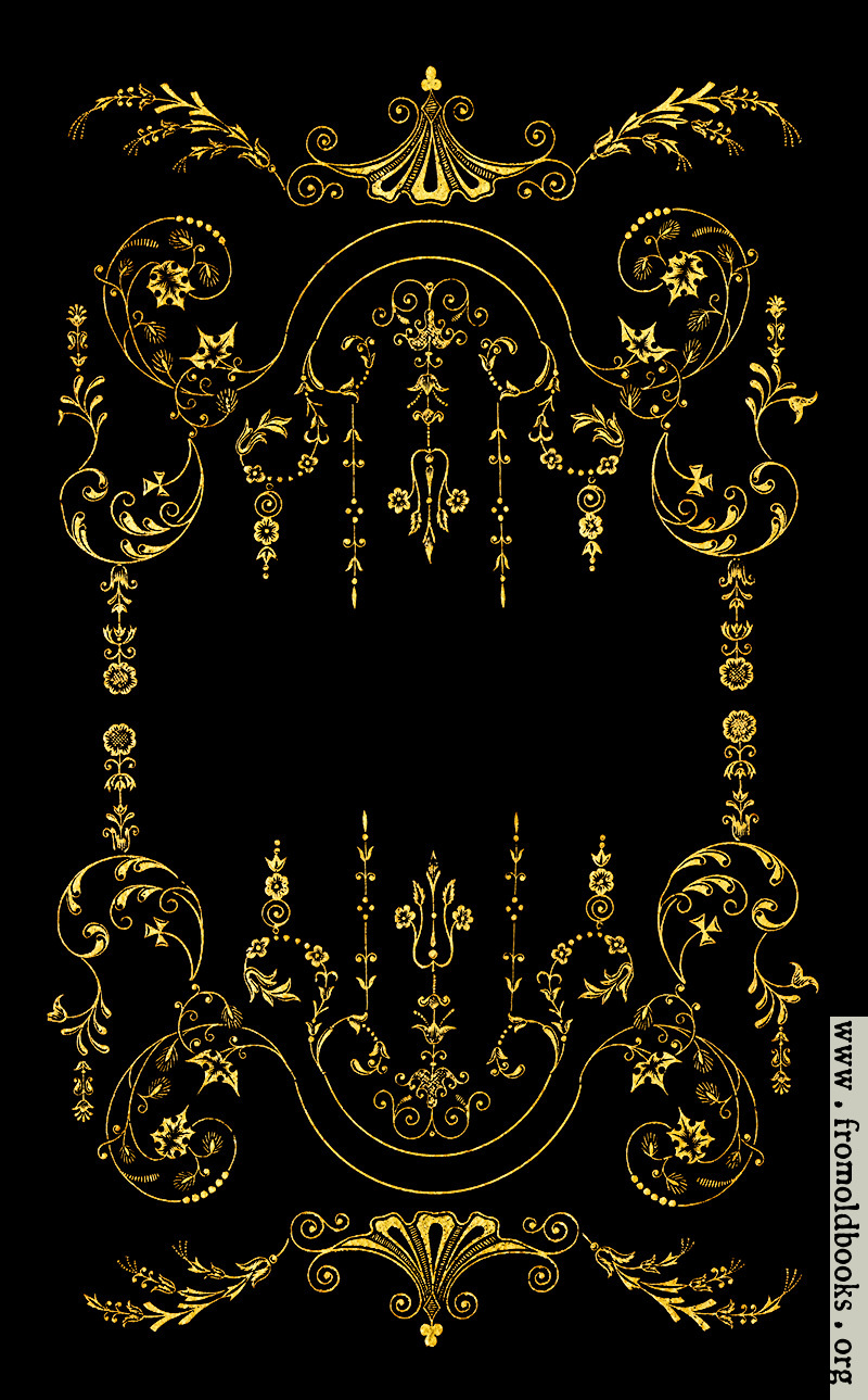 Victorian Border Gold On Black
