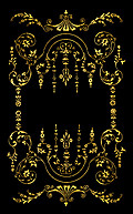 [picture: Victorian border, Gold on Black.]