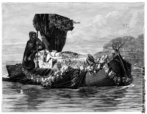 [Picture: Elaine crossing the river styx]