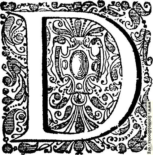 [Picture: Decorative initial (drop cap) D]