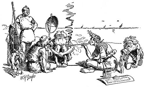 Cæsar treating with the Britons [image 500x302 pixels]