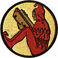 Front Cover detail: jester reading a book