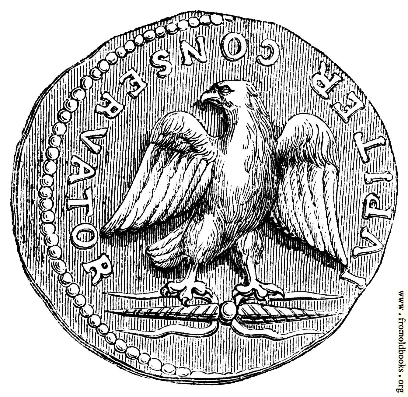 Ancient roman eagle symbol