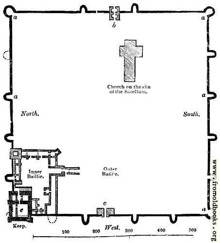 104.—Plan of Porchester Castle, Hants.