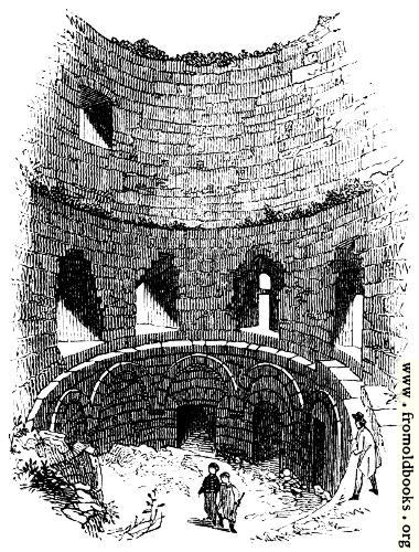 112.—Interior of Norman Tower, Pevensey.