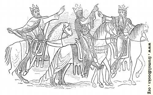 283.—Royal Costume, and the Harness and Equipment of Horses.  (Cotton M.S.)