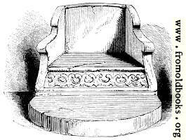 590.—Stone Chair in the Chapter House, Durham.