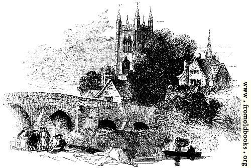 [Picture: 819.---Bridge at Evesham.]