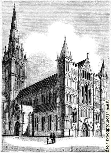 [Picture: 929.---North West View of Salisbury Cathedral.]