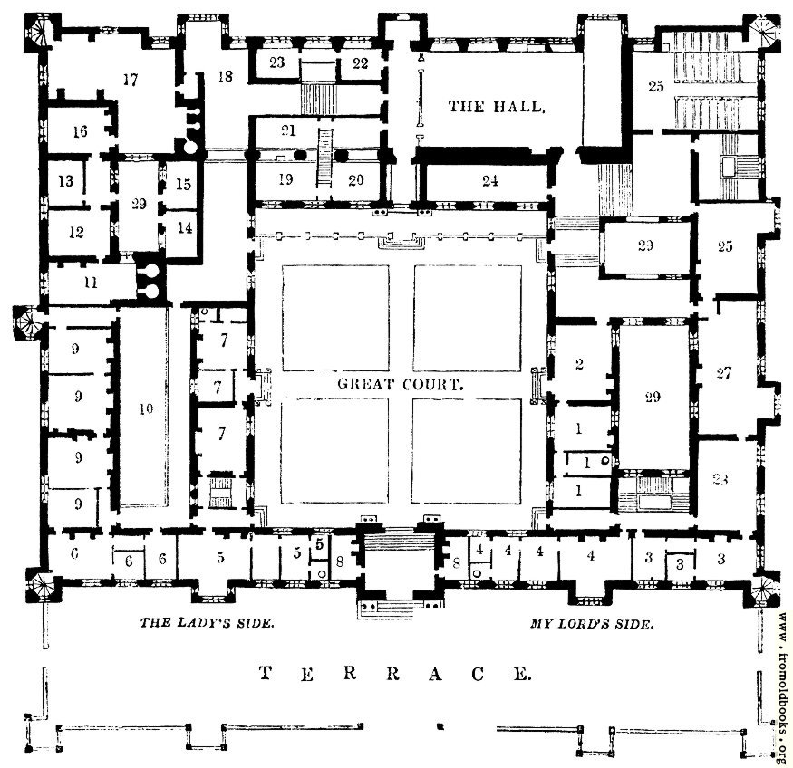 1674 Plan Of Buckhurst House Sussex