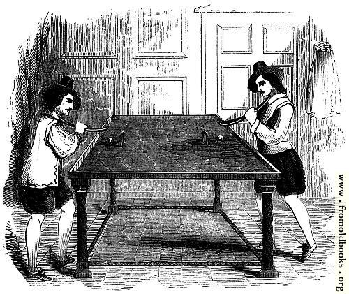 [Picture: 2153.---Billiards (From ``School of Recreation,'' 1710)]