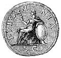 [picture: 122.---The earliest figure of Britannia on a Roman coin.]