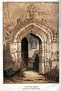 [picture: Stratford Church, looking in through the door]