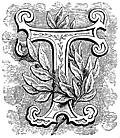 [picture: Floriated initial letter ``T'']