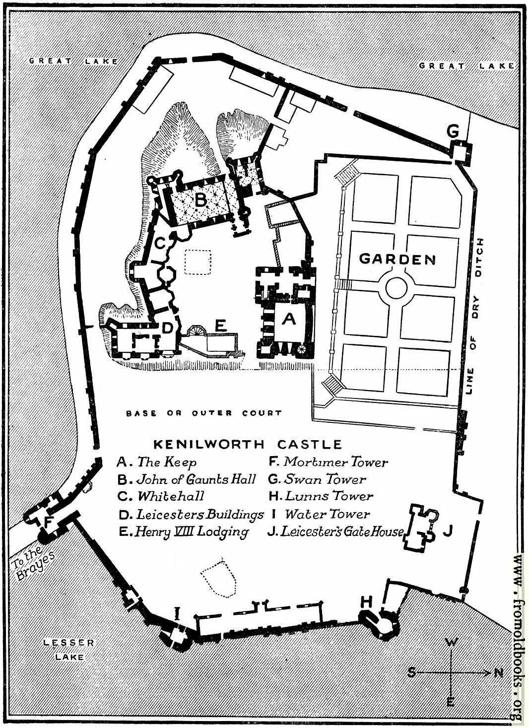 Plan of Kenilworth Castle