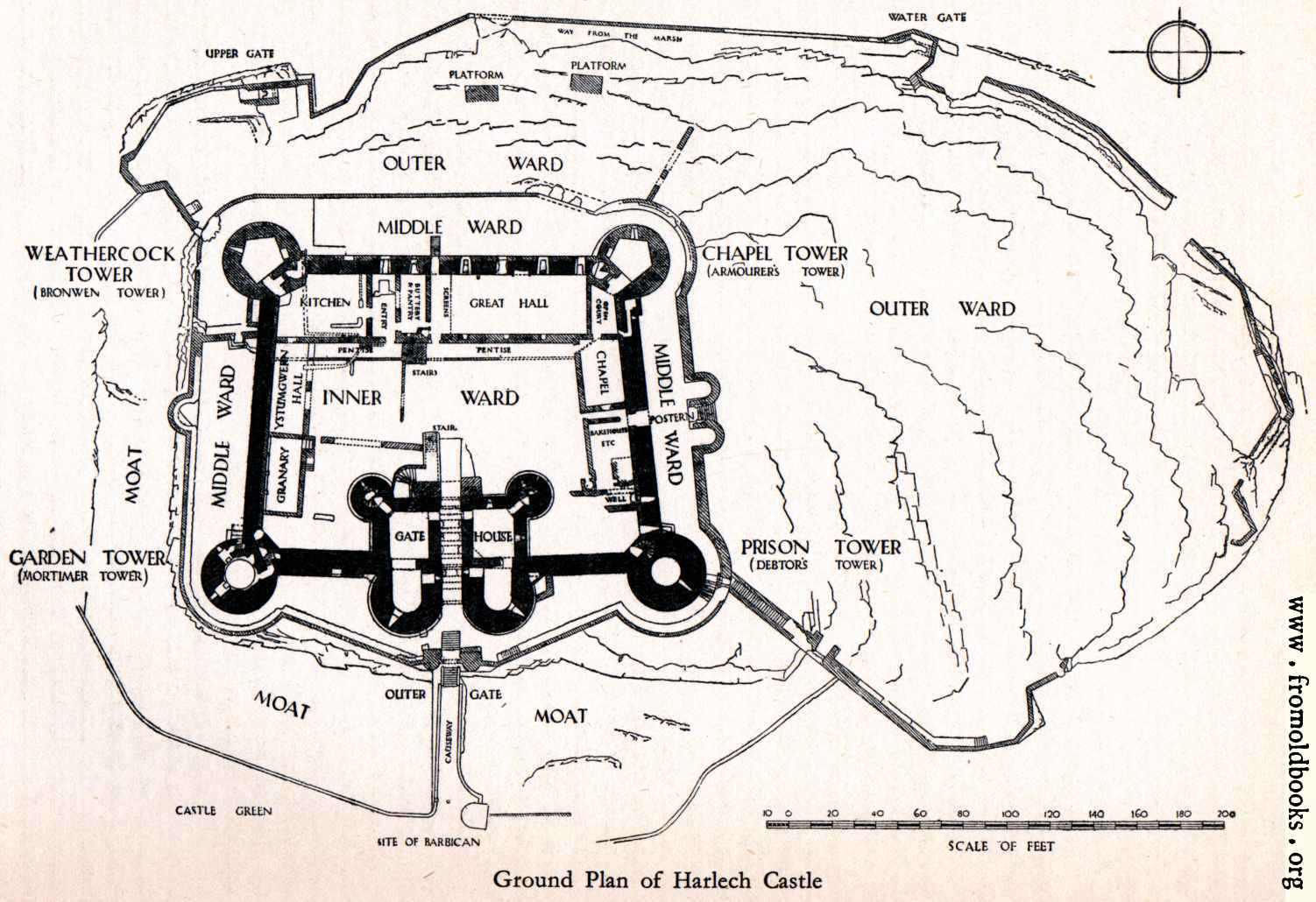 Harlech castle for Castle blueprints