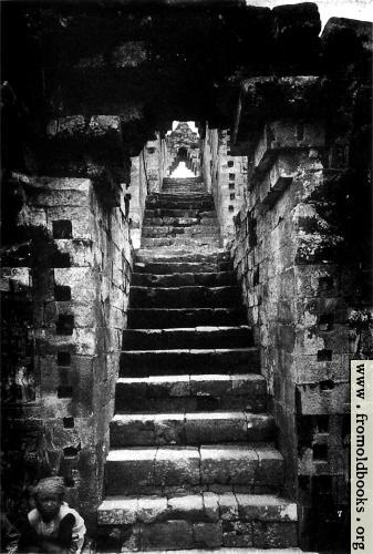 [Picture: The stairs leading to a Prambanam temple.]