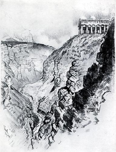 III. The Temple Over the Canyon, Segesta [image 382x500 pixels]