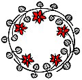 [picture: Roundel with roses and thorns]