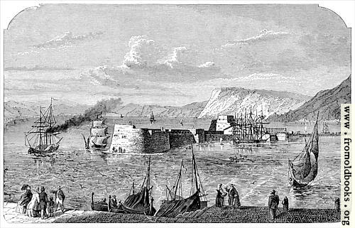 [Picture: Entrance to the harbour of Messina.]