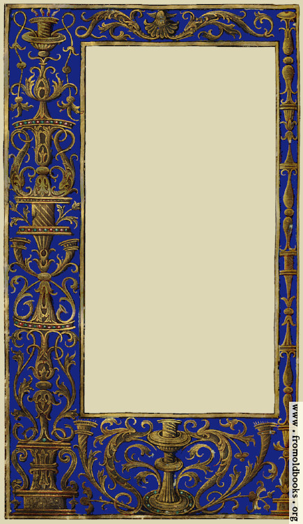 ornate blue and gold full