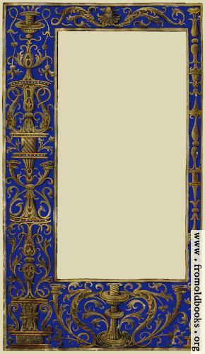 [Picture: Ornate blue and gold full-page border]