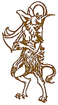 Border detail: Satyr or horned devil
