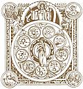 Zodiac with evangelists from p. 120