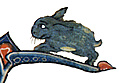 Drollery (margin-creature), Blue Rabbit