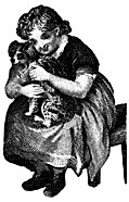 [picture: Girl cuddling dog]